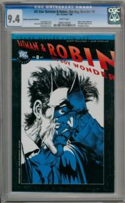 All Star Batman & Robin #8 Neal Adams RRP Blue Variant  CGC 9.4 DC comic book